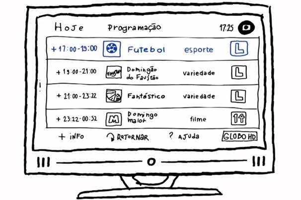 Guia eletrônico da programação é um dos recursos que TV digital oferece a você (Foto: Reprodução)