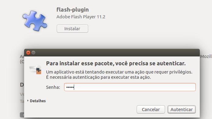 Autorizando a instalação do Flash Player para Linux (Foto: Reprodução/Edivaldo Brito)