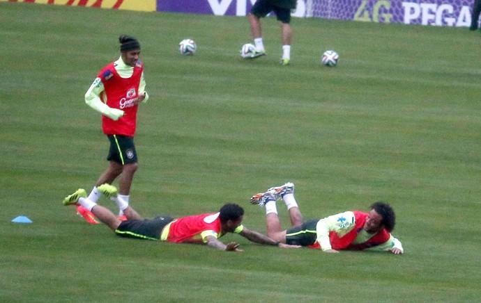 Treino Seleção Brasileira  (Foto: André Durão)