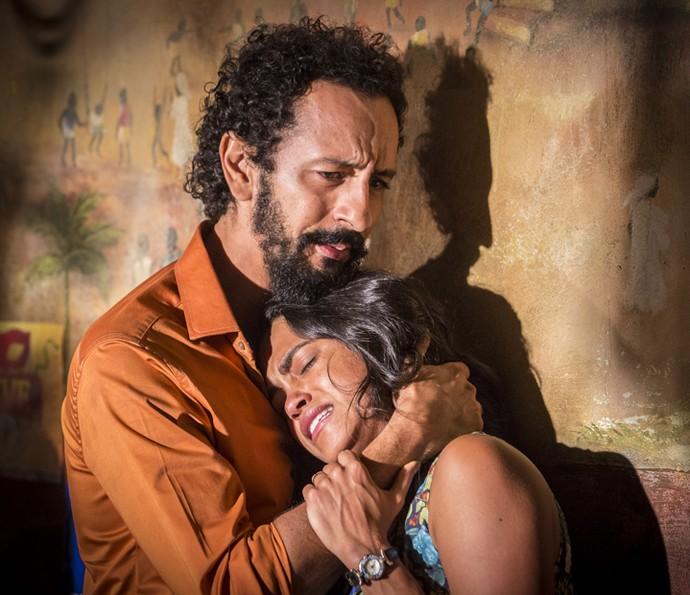 Bento e Luzia em 'Velho Chico' (Foto: Felipe Monteiro/ Gshow)