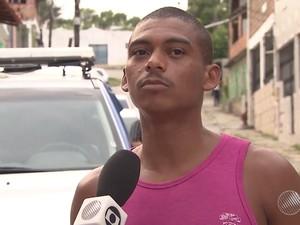 Uanderson Senna dos Santos, sobrinho de irmãs mortas por policial (Foto: Reprodução/TV Bahia)