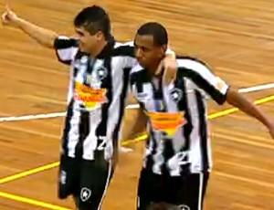 Frame, Botafogo x Flamengo, Futsal (Foto: Reprodução)