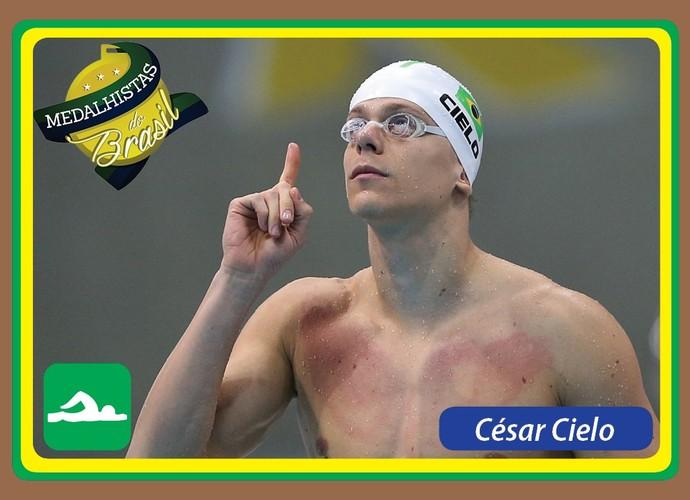 Medalhistas do Brasil card César Cielo (Foto: Reprodução)