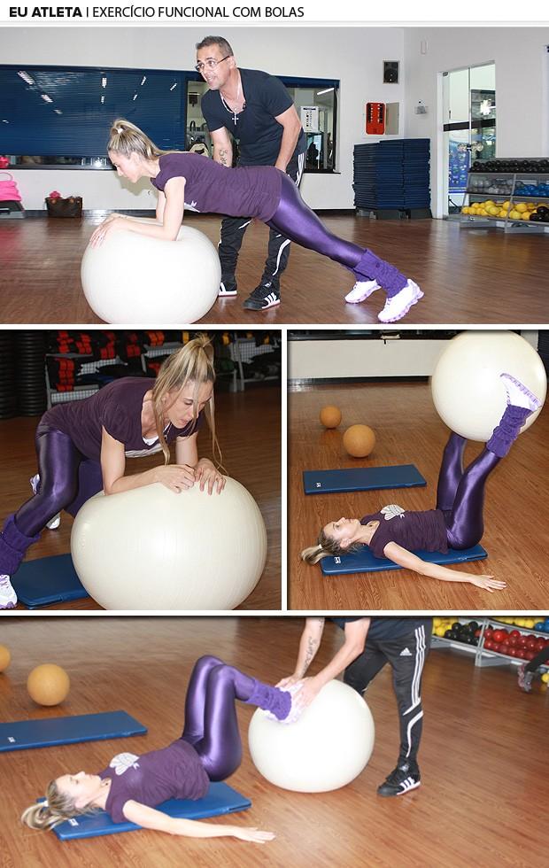 exercício funcional com bolas eu atleta (Foto: Fernanda Cansanção)