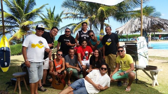 Bastidores das gravações do Rota em Cunhaú, em 2015 (Foto: David Beto)