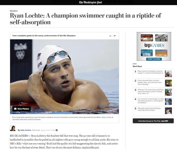 Washington Post critica Ryan Lotche