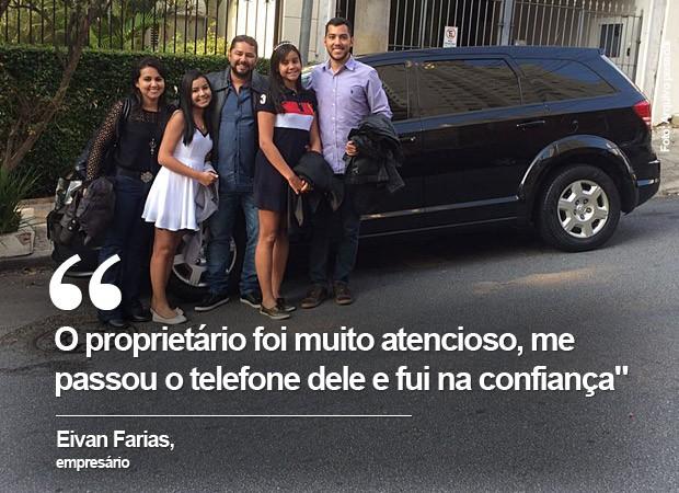 Carros compartilhados - Eivan Farias (Foto: Arquivo Pessoal)