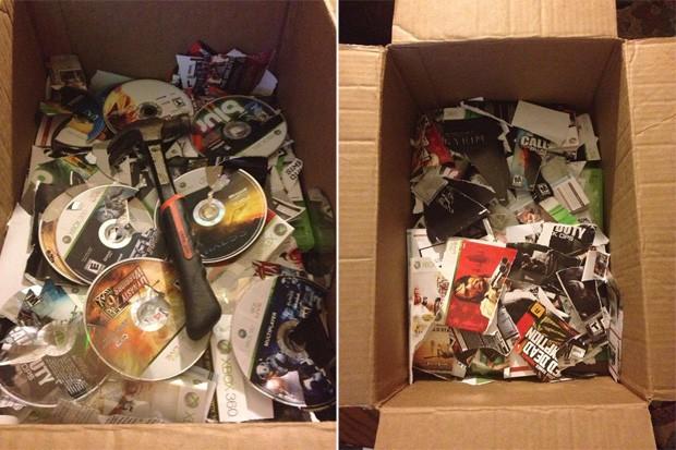 Mulher destrói coleção de games de ex namorado