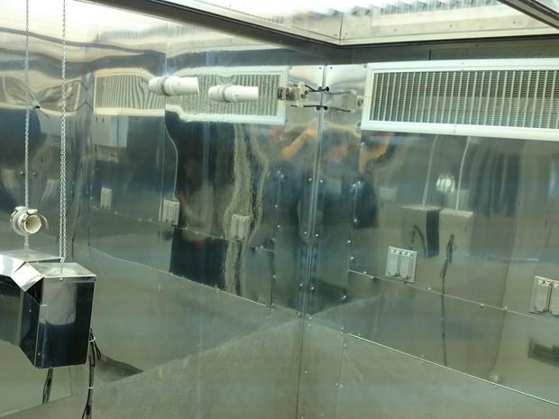 Laboratório da Nasa (Foto: Geraldo Jr./G1)