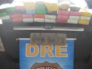 40 Kg de crack são apreendido em rodovia (Foto: PF/SE)