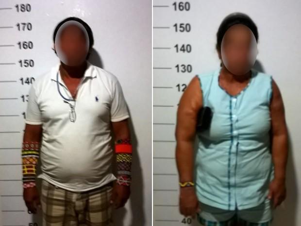 Caminhoneiro e aposentada foram presos por estupro de vulnerável, em Goianira, Goiás (Foto: Divulgação/Polícia Civil)