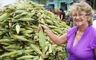Feirante criou dez filhos com a venda de milho (Inaê Teles/G1)