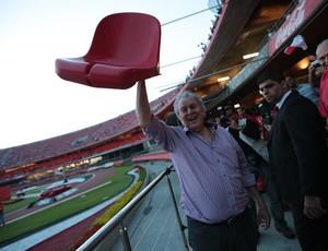 Juvenal Juvêncio cadeira Morumbi (Foto: Site oficial do São Paulo)