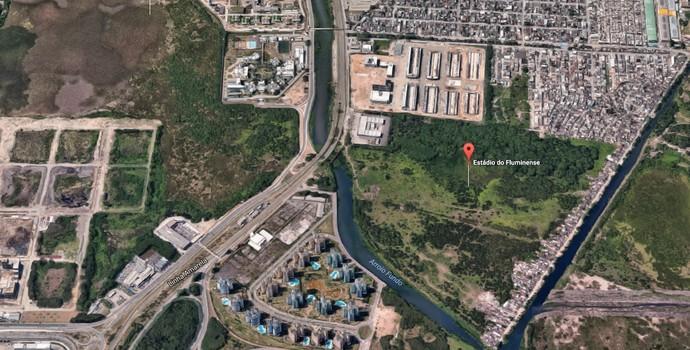 fluminense terreno estádio (Foto: Reprodução / Google Maps)