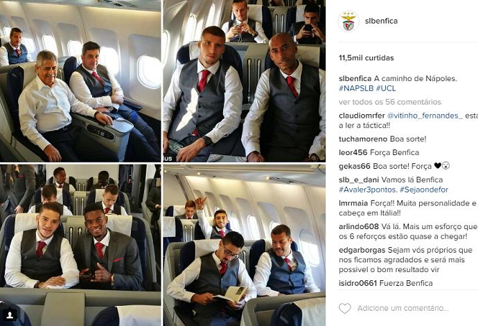 Benfica embarque Champions