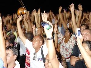 Assembleia aprovou o início da greve da PM (Foto: Imagens/G1)