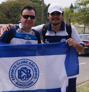 William Alves, Eduardo Demilite, caminhada, São Bento, são-bentistas, Pacaembu, Sorocaba, São Paulo (Foto: Eric Mantuan)