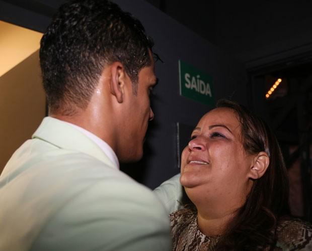 Marcello Melo Jr. e a mãe Christiane Silva  (Foto: Carol Caminha/ Gshow)