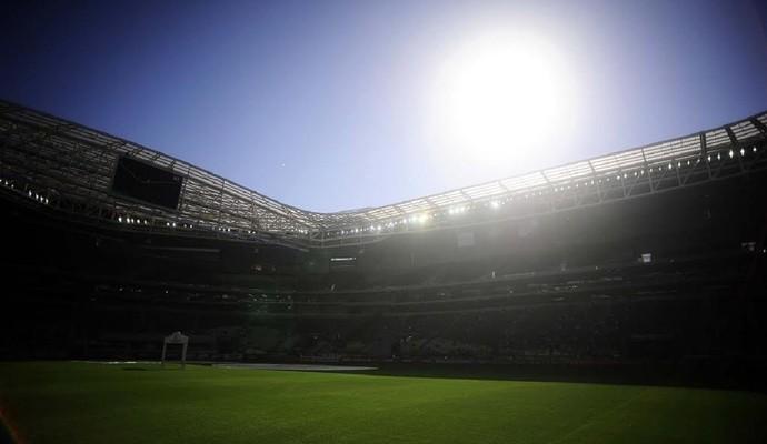 Palmeiras x Atlético-PR arena (Foto: Marcos Ribolli)
