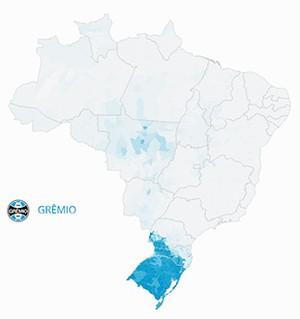 Mapa Grêmio (Foto: GloboEsporte.com)