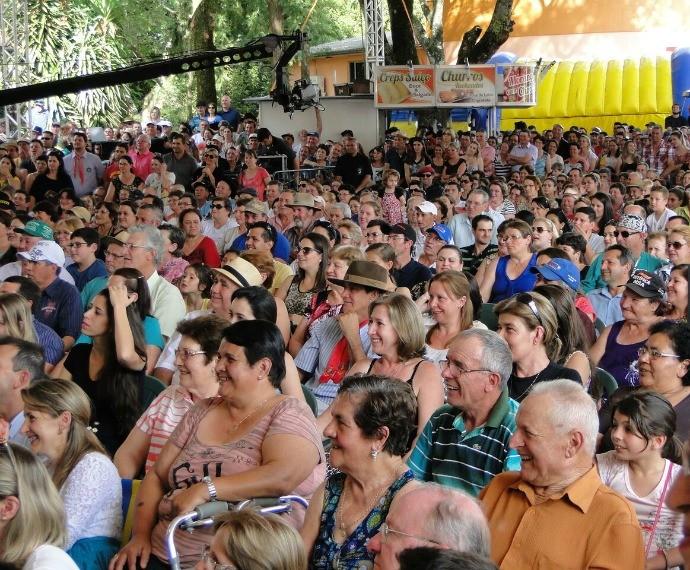 Galpão Crioulo Ibiaçá público (Foto: Daniela de Oliveira/RBS TV)