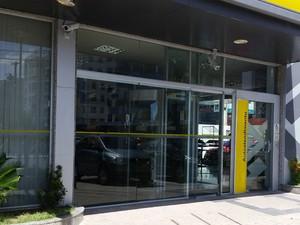 Equipamento foi instalado em terminal de agência bancária de João Pessoa (Foto: Walter Paparazzo/G1)