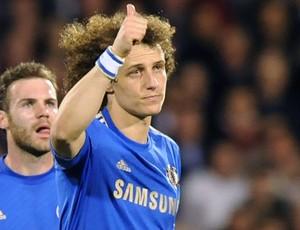 David Luiz gol Chelsea Fullham (Foto: AFP)