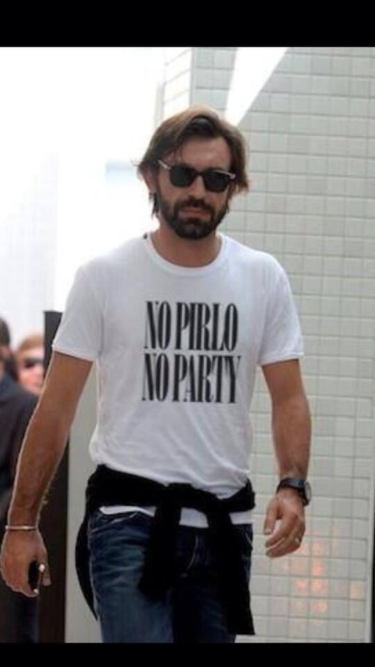 No Pirlo, no party (Foto: reprodução/twitter )