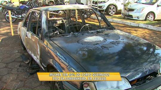 Mulher tem 40% do corpo queimado pelo ex-companheiro em Cascavel
