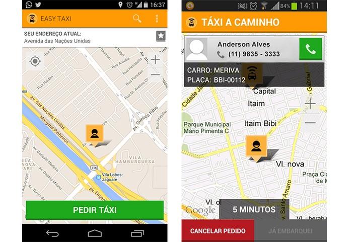 Peça um táxi de forma simples e rápida com app Easy Táxi (Foto: Divulgação/Google Play)