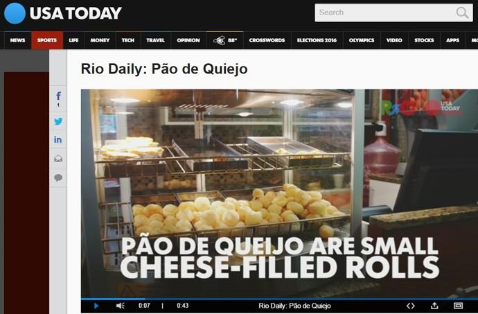 USA Today experimenta Pão de Queijo