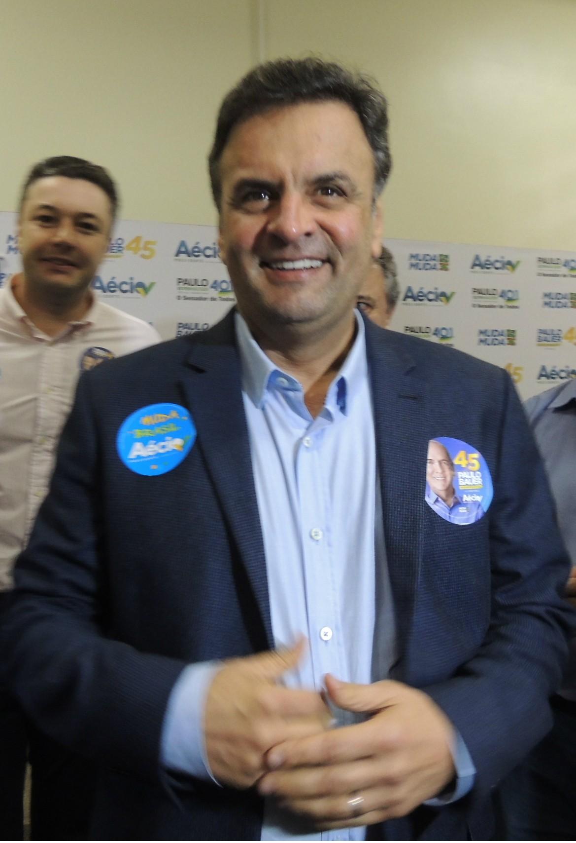 Senador esteve em Florianópolis, SC, nesta quinta-feira (17) (Foto: Géssica Valentini/G1)