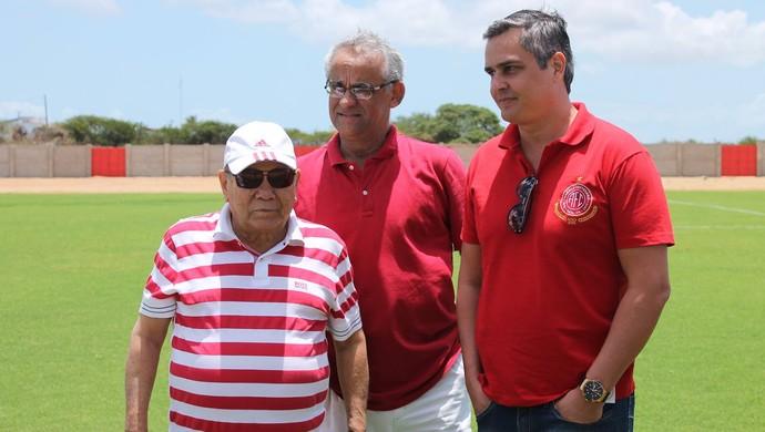 América-RN - José Rocha, Sérgio Fraiman, Beto Santos (Foto: Canindé Pereira/Divulgação)