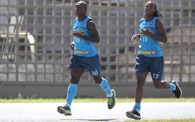 Seedorf e Andrezinho, Botafogo (Foto: Jorge William / Agência O Globo)
