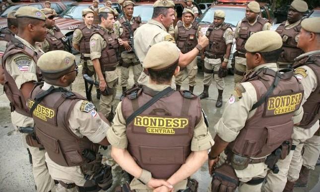 Rondesp, grupo de elite da PM baiana (Foto: Divulgação)