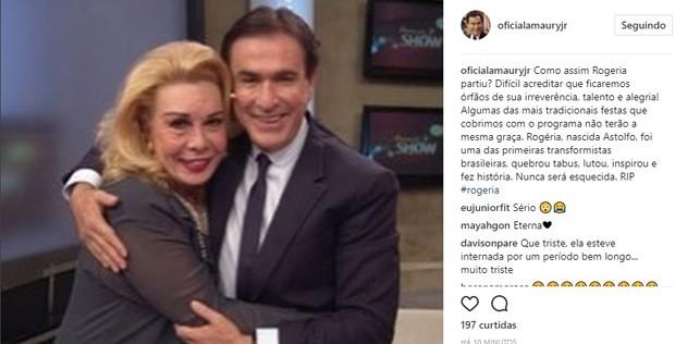 Amaury Jr. lamenta morte de Rogéria (Foto: Reprodução/Instagram)