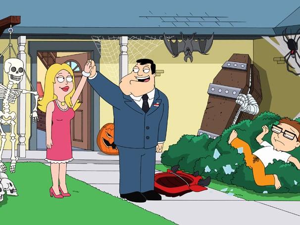 Stan e Francine se sentem ameaçados na competição de decoração (Foto: Divulgação / Twentieth Century Fox)