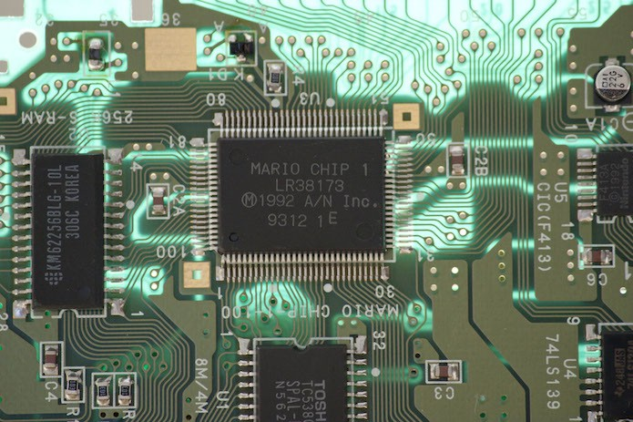 Primeira versão do chip FX vinha com o codinome MARIO impresso (Foto: Reprodução/Wikipedia)