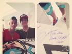 Neymar ganha prancha do surfista Gabriel Medina