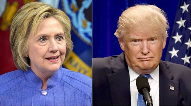 Os dois rivais candidatos à Presidência americana, Hillary Clinton e Donald Trump  (Foto: AFP)