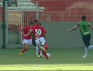 Radamés usa camisa número 50 do Boa Esporte (Foto: Reprodução Sportv)