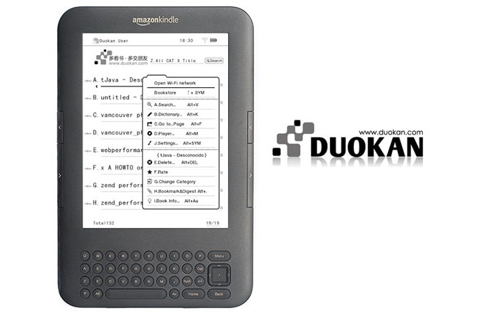 Duokan expands the functionality of the Kindle, but it puts the integrity of the device at risk at the facility (Photo: Playback / The Digital Reader) (Photo: Duokan expands the functionality of the Kindle, but it puts the integrity of the device at risk at the facility (Photo: Playback / The Digital Reader))