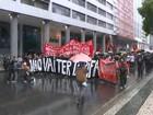 Protesto contra aumento de tarifas fecha vias do Centro do Rio