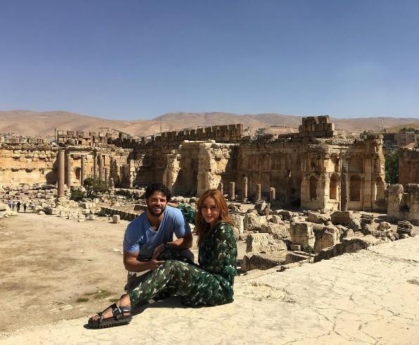 Nas ruínas romanas (Foto: Instagram)