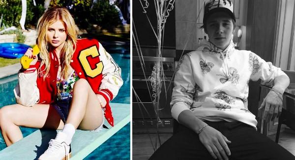 A atriz Chloe Grace Moretz e o modelo Brooklyn Beckham (Foto: Instagram)
