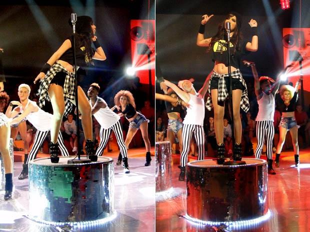 Anitta fazendo um dos seus passinhos mais famosos (Foto: Esquenta/TV Globo)