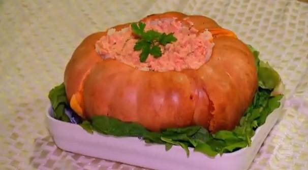 Carne de soja na moranga é dica do de 'Receita' do Clube Rural de domingo (15) (Foto: Reprodução/TV Clube)
