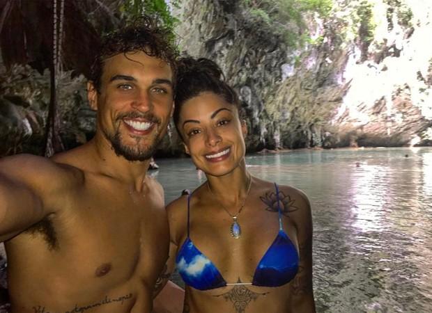 Felipe Roque e Aline Riscado (Foto: Reprodução/Instagram)