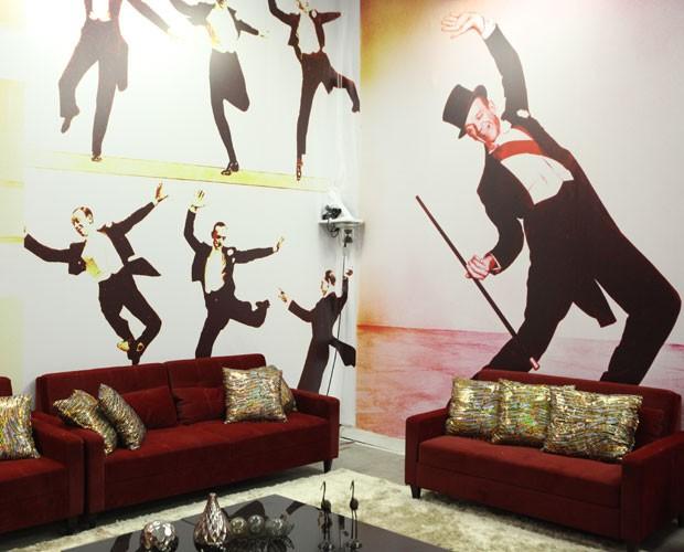 A casa do Dança dos Famosos faz homenagem ao foxtrote (Foto: Carol Caminha/ TV Globo)