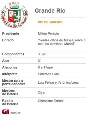 Ficha técnica da Acadêmicos do Grande Rio de 2014 (Foto: Arte G1)